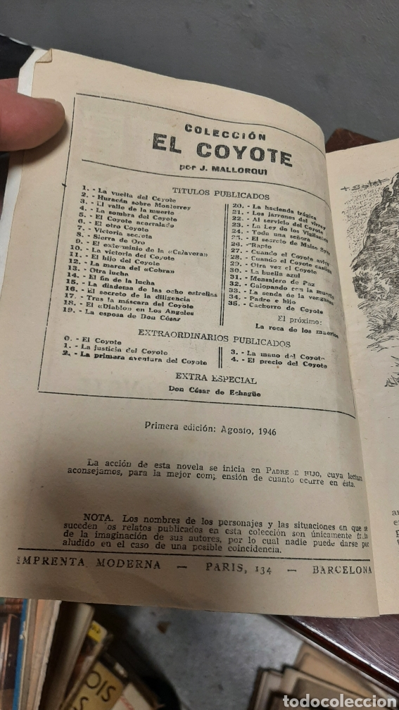 Tebeos: LOTE 13 COMOCS EL COYOTE 1950/1949 VER FOTOS - Foto 25 - 241871945