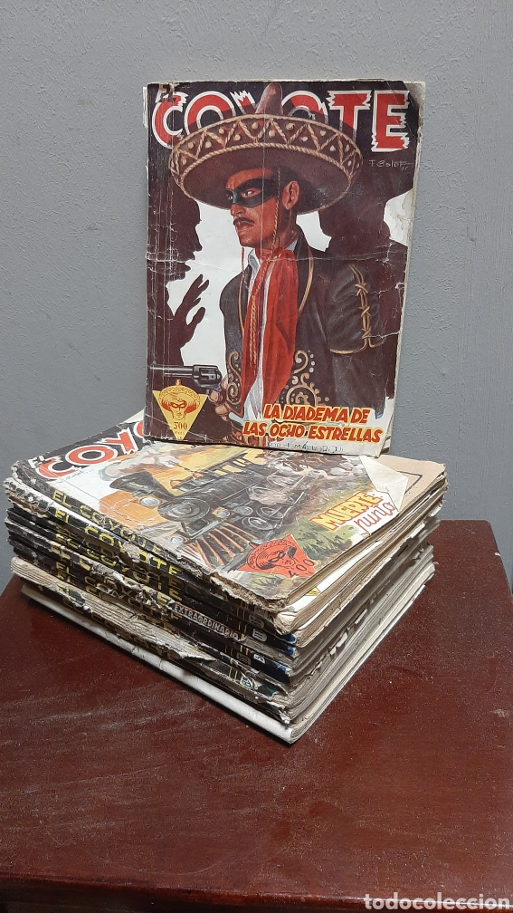 LOTE 13 COMOCS EL COYOTE 1950/1949 VER FOTOS (Tebeos y Comics - Cliper - El Coyote)