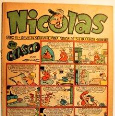 Tebeos: NICOLAS, EDITORIAL CLIPER 1948, NÚMERO ORIGINAL 143. Lote 243601780