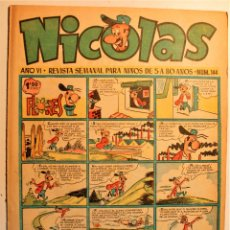 Tebeos: NICOLAS, EDITORIAL CLIPER 1948, NÚMERO ORIGINAL 144. Lote 243602075