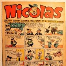 Livros de Banda Desenhada: NICOLAS, EDITORIAL CLIPER 1948, NÚMERO ORIGINAL 149. Lote 243602995