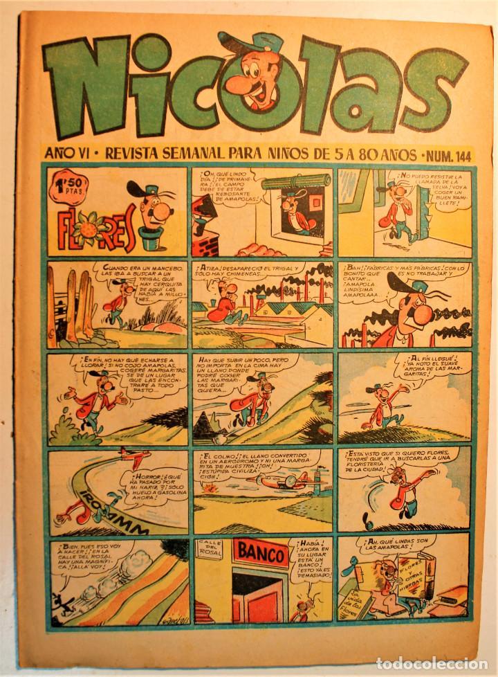NICOLAS, EDITORIAL CLIPER 1948, NÚMERO ORIGINAL 145 (Tebeos y Comics - Cliper - Nicolas)