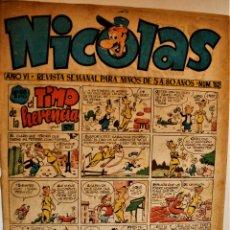 Tebeos: NICOLAS, EDITORIAL CLIPER 1948, NÚMERO ORIGINAL 152. Lote 243603735