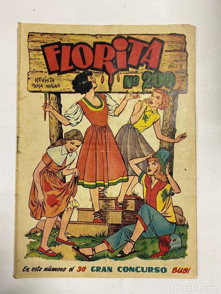 FLORITA. REVISTA PARA NIÑAS. AÑO V. Nº 200. EDICIONES CLIPER. (Tebeos y Comics - Cliper - Florita)