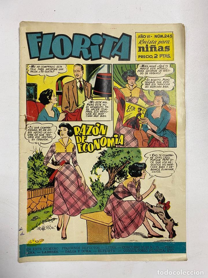 FLORITA. REVISTA PARA NIÑAS. AÑO VI. Nº 245. EDICIONES CLIPER. (Tebeos y Comics - Cliper - Florita)