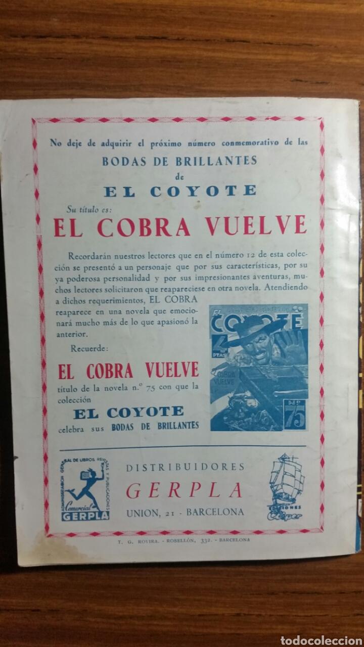 Tebeos: EL COYOTE ediciones Cliper Nº 74 primera edicion octubre 1948 - Foto 2 - 252697670