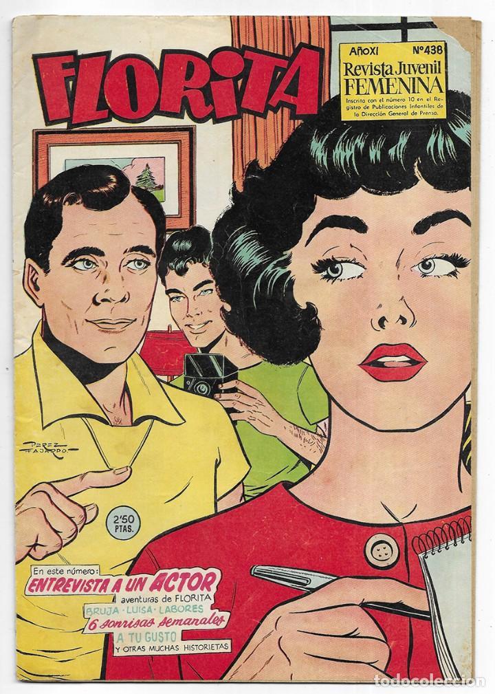 FLORITA AÑO. XI Nº 438 REVISTA JUVENIL FEMENINA 1960 (Tebeos y Comics - Cliper - Florita)