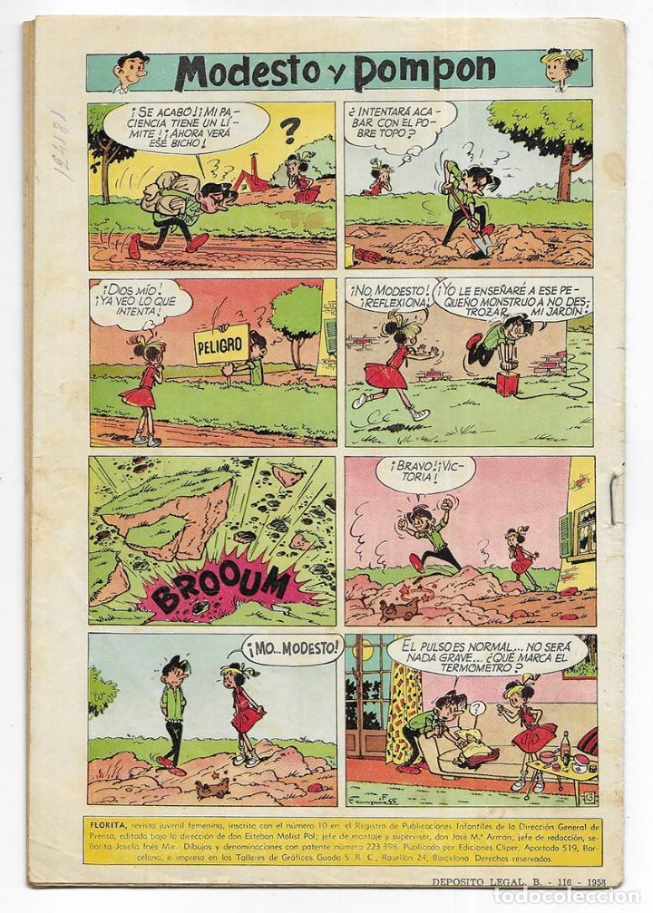 Tebeos: FLORITA Año. XI nº 438 Revista Juvenil Femenina 1960 - Foto 2 - 253116925