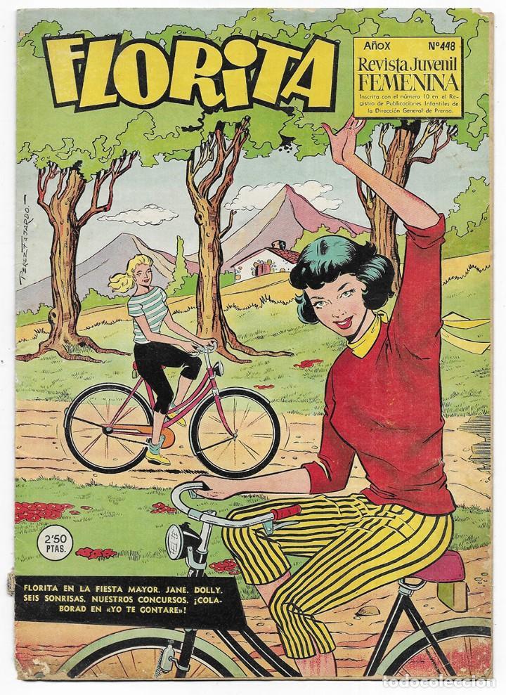 FLORITA AÑO. XI Nº 448 REVISTA JUVENIL FEMENINA 1960 (Tebeos y Comics - Cliper - Florita)
