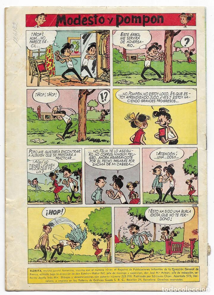 Tebeos: FLORITA Año. XI nº 448 Revista Juvenil Femenina 1960 - Foto 2 - 253117075