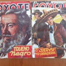 Tebeos: LOTE EL COYOTE DE J. MALLORQUÍ. TRUENO NEGRO / EL CUERVO DE LA PRADERA. EDITA CLIPER 1946. Lote 253869155