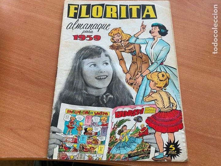 Tebeos: FLORITA LOTE ALMANAQUE 1955 1958 1959 1960 Y 1961 y nº 200 (CLIPER) ORIGINAL (COIB9) - Foto 8 - 254364855