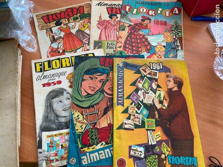 FLORITA LOTE ALMANAQUE 1955 1958 1959 1960 Y 1961 Y Nº 200 (CLIPER) ORIGINAL (COIB9) (Tebeos y Comics - Cliper - Florita)