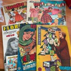 Tebeos: FLORITA LOTE ALMANAQUE 1955 1958 1959 1960 Y 1961 Y Nº 200 (CLIPER) ORIGINAL (COIB9). Lote 254364855