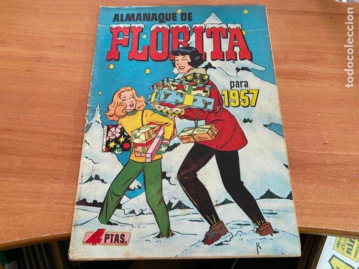 FLORITA ALMANAQUE 1957 (CLIPER) ORIGINAL (COIB9) (Tebeos y Comics - Cliper - Florita)