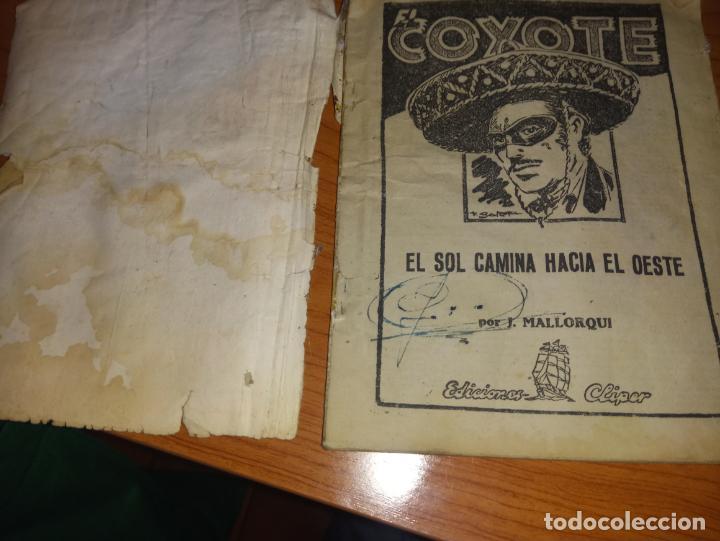 Tebeos: EL COYOTE EL SOL CAMINA HACIA EL OESTE 1ªEDICCION 1948 ED CLIPPER POSIBLE FIRMAS DEL AUTOR - Foto 5 - 255459350