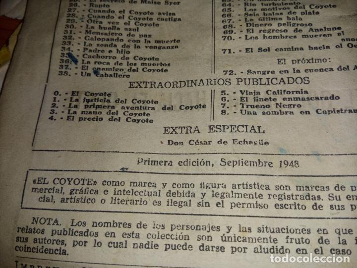 Tebeos: EL COYOTE EL SOL CAMINA HACIA EL OESTE 1ªEDICCION 1948 ED CLIPPER POSIBLE FIRMAS DEL AUTOR - Foto 7 - 255459350