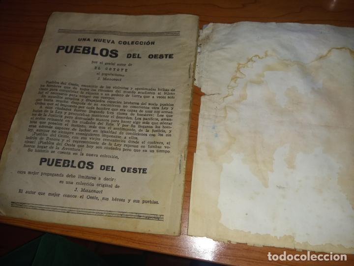 Tebeos: EL COYOTE EL SOL CAMINA HACIA EL OESTE 1ªEDICCION 1948 ED CLIPPER POSIBLE FIRMAS DEL AUTOR - Foto 8 - 255459350