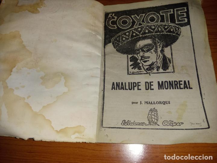 Tebeos: EL COYOTE ANALUPE DE MONREAL 1ªEDICCION 1948 ED CLIPPER - Foto 2 - 255459760