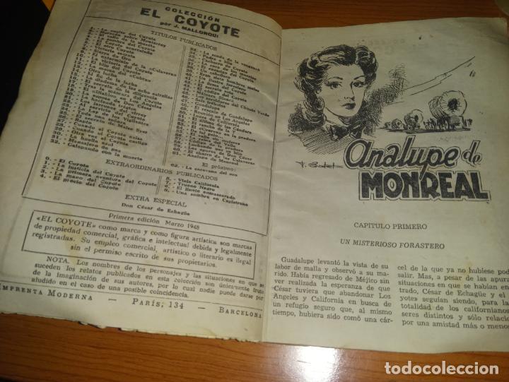 Tebeos: EL COYOTE ANALUPE DE MONREAL 1ªEDICCION 1948 ED CLIPPER - Foto 3 - 255459760