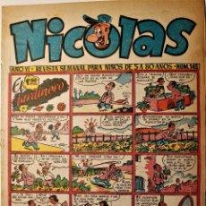 Tebeos: NICOLAS, EDITORIAL CLIPER 1948, NÚMERO ORIGINAL 145. Lote 255564145