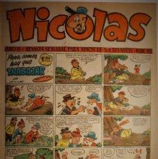 Giornalini: NICOLAS, EDITORIAL CLIPER 1948, NÚMERO ORIGINAL 154. Lote 255564695