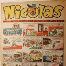 Giornalini: NICOLAS, EDITORIAL CLIPER 1948, NÚMERO ORIGINAL 155. Lote 255565775