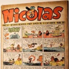 Giornalini: NICOLAS, EDITORIAL CLIPER 1948, NÚMERO ORIGINAL 158. Lote 255567280