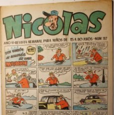 Tebeos: NICOLAS, EDITORIAL CLIPER 1948, NÚMERO ORIGINAL 167. Lote 255574955