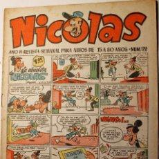 Tebeos: NICOLAS, EDITORIAL CLIPER 1948, NÚMERO ORIGINAL 172. Lote 255576555