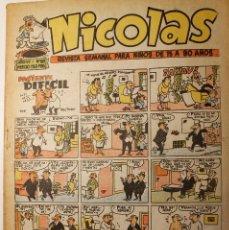 Tebeos: NICOLAS, EDITORIAL CLIPER 1948, NÚMERO ORIGINAL 183. Lote 255578925