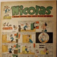 Tebeos: NICOLAS, EDITORIAL CLIPER 1948, NÚMERO ORIGINAL 201. Lote 255579825