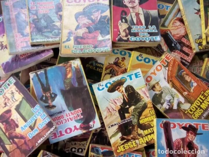 """Tebeos: COLECCION DE 85 NOVELAS DE """"EL COYOTE"""" J. MALLORQUIN ORIGINALES AÑOS 60 - Foto 6 - 260362510"""