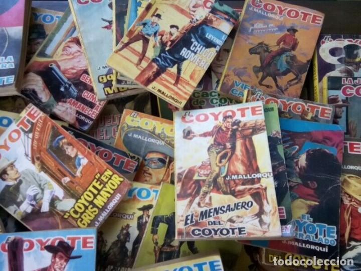 """Tebeos: COLECCION DE 85 NOVELAS DE """"EL COYOTE"""" J. MALLORQUIN ORIGINALES AÑOS 60 - Foto 7 - 260362510"""
