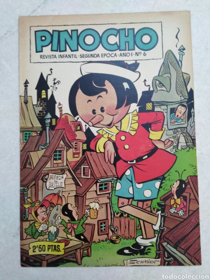 PINOCHO, REVISTA INFANTIL, SEGUNDA ÉPOCA, AÑO 1-NÚMERO 6 (Tebeos y Comics - Cliper - Otros)