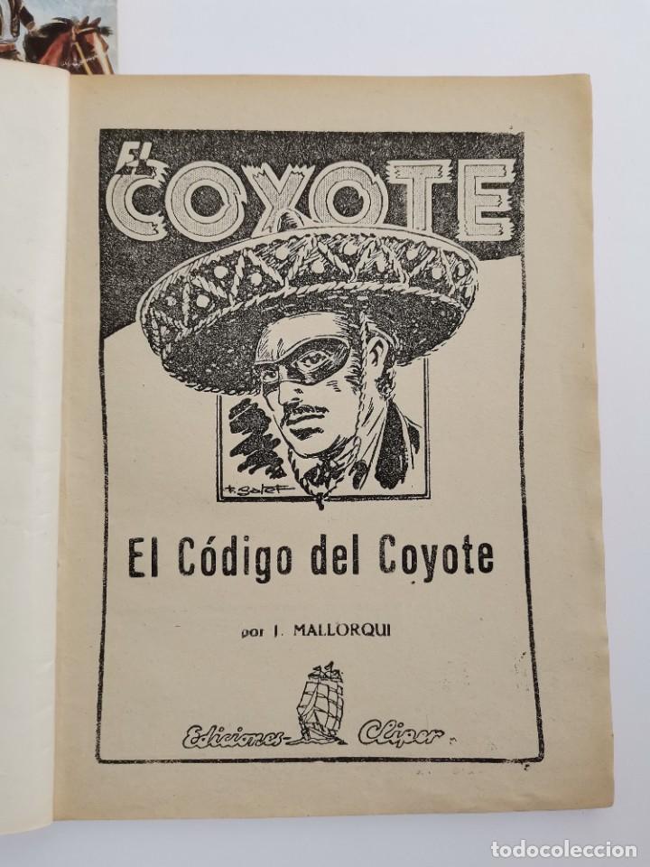 Tebeos: RV-223. 23 COMICS COYOTE. J.MALLORQUI. ED. CLIPER. ED.CLIPER. MEDIADOS S.XX. - Foto 3 - 267175544