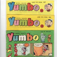 Tebeos: ARCHIVO * YUMBO * Nº 337, 364, 387 * EDICIONES CLIPER 1953 * ORIGINALES *. Lote 274281523