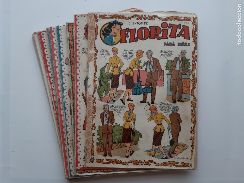 CUENTOS DE FLORITA PARA NIÑAS 13 EJEMPLARES Nº 121, 126, 127, 128, 134, 135, 143 185 188192 194 200 (Tebeos y Comics - Cliper - Florita)