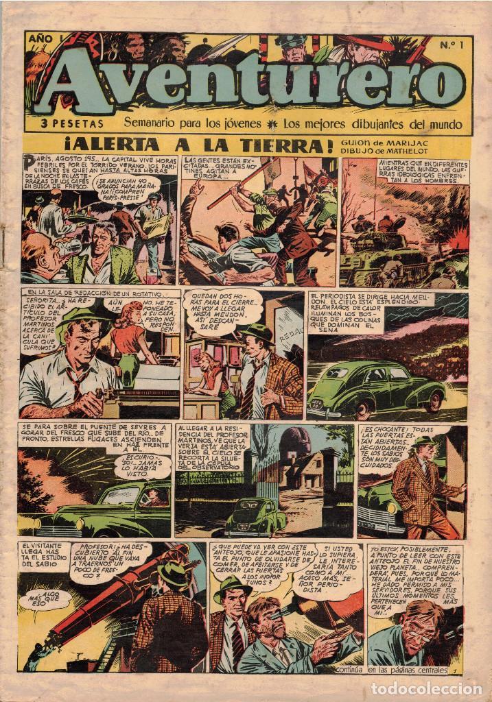 LOTE DE 20 NÚMS. DE AVENTURERO (1953) (Tebeos y Comics - Cliper - Aventurero)