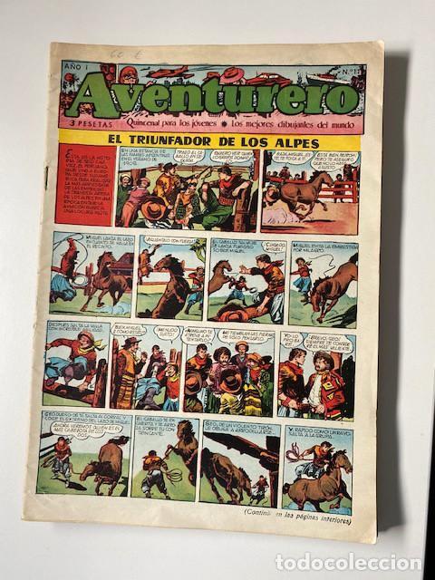 Tebeos: AVENTURERO. CLIPER, 1953. LOTE DE 11 EJEMPLARES - Foto 3 - 286776608