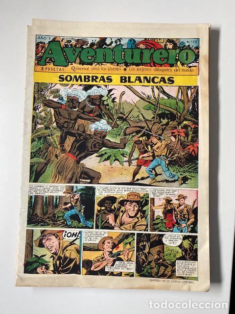 Tebeos: AVENTURERO. CLIPER, 1953. LOTE DE 11 EJEMPLARES - Foto 4 - 286776608
