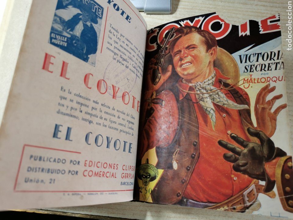 Tebeos: EL COYOTE NUMEROS 1 extraordinario, 5, 6, 7 Y 8 EN UN VOLUMEN - ED. CLIPER años 40 - 1ª EDICIÓN - Foto 4 - 288682303