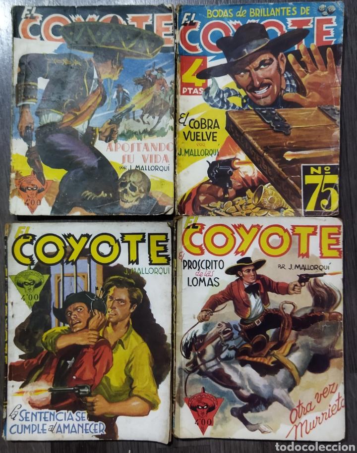 Tebeos: Lote de 26 EL COYOYE y 2 Novelas del Oeste .por J .Mallorqui - Foto 2 - 289011613