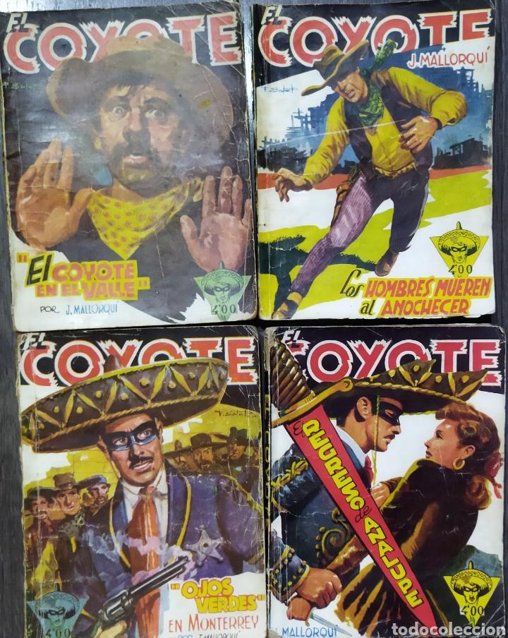 Tebeos: Lote de 26 EL COYOYE y 2 Novelas del Oeste .por J .Mallorqui - Foto 5 - 289011613