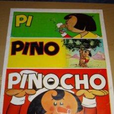 Tebeos: (I/B) CARTEL ORIGINAL - PINOCHO UNA AUTENTICA REVISTA PARA NIÑOS Y NIÑAS, AÑOS 60/70, 38X51CM. Lote 290071193