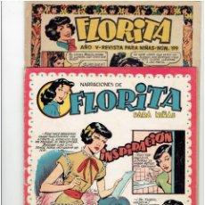 Tebeos: ARCHIVO * FLORITA * REVISTA NIÑAS Nº 97, 199, 202 * EDICIONES CLIPER 1949 *. Lote 294460943