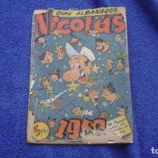 Tebeos: ALMANAQUE NICOLAS ORIGINAL 1950 VER FOTOS CJ3. Lote 295354998