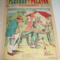 Tebeos: FLECHAS Y PELAYOS - TOMO ENCUADERNADO ORIGINAL DE 1943 INCLUYE DESDE EL NÚMERO 213 ALNUMERO 265 AMB. Lote 26305664