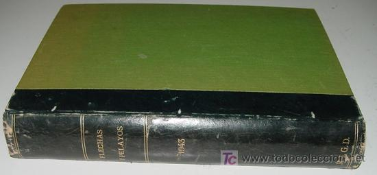 Tebeos: Flechas y Pelayos - Tomo encuadernado original de 1943 incluye desde el número 213 alnumero 265 amb - Foto 2 - 26305664