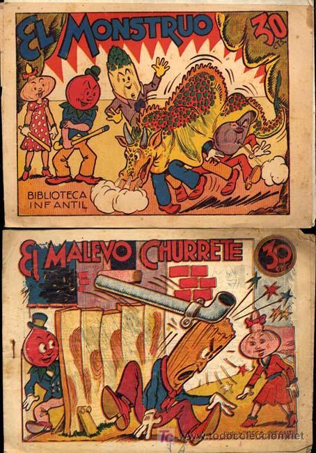 Tebeos: RABANITO Y CEBOLLETA, BIBLIOTECA INFANTIL, AÑOS 1940 , 30 CTS FOTOS, Nº SUELTO CONSULTAR ARCOS PAJA - Foto 2 - 12479661